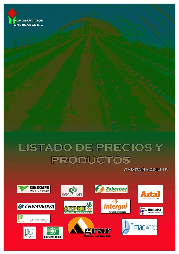 Catalogo Productos Berries 2014-15